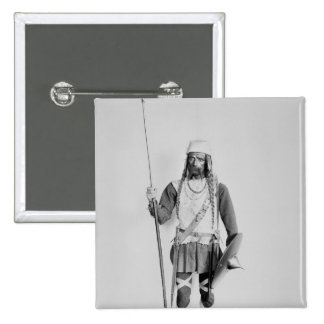 Modelo de un guerrero Frankish Pin Cuadrada 5 Cm