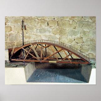 Modelo de un puente de oscilación poster
