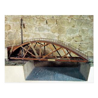 Modelo de un puente de oscilación postales