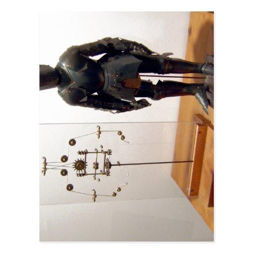 Modelo de un robot basado en dibujos por el Leonar Postales