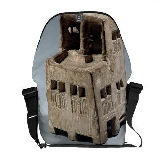 Modelo de una casa (piedra caliza) bolsas messenger