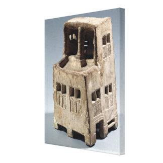 Modelo de una casa piedra caliza impresión en lona estirada