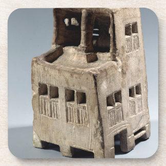 Modelo de una casa (piedra caliza) posavasos de bebidas