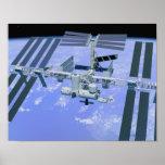 Modelo de una estación espacial internacional impresiones