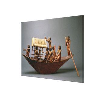 Modelo de una nave, c.2000 de la tumba A.C. (mader Impresión En Lienzo Estirada