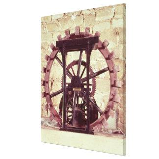 Modelo de una rueda de agua impresiones en lienzo estiradas