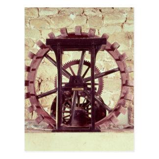 Modelo de una rueda de agua postales