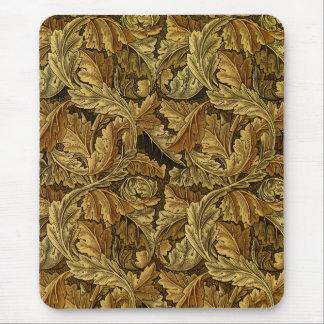 Modelo de William Morris de las hojas de otoño Alfombrillas De Ratones