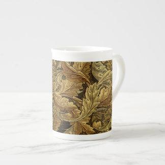 Modelo de William Morris de las hojas de otoño Taza De Porcelana