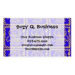 Modelo de zigzag amarillo azul de los búhos colori plantilla de tarjeta de negocio
