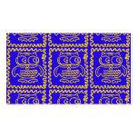 Modelo de zigzag amarillo azul de los búhos colori plantillas de tarjeta de negocio