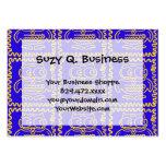 Modelo de zigzag amarillo azul de los búhos colori plantilla de tarjeta personal