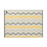 Modelo de zigzag amarillo gris de la impresión del iPad mini coberturas