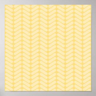 Modelo de zigzag amarillo inspirado haciendo punto póster