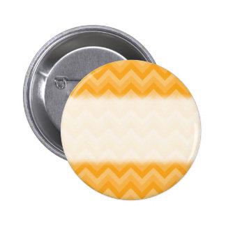 Modelo de zigzag amarillo soleado pin redondo de 2 pulgadas