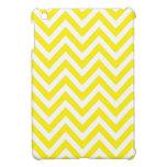 Modelo de zigzag amarillo y blanco de la raya iPad mini funda