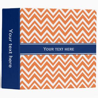 """Modelo de zigzag anaranjado con el azul real carpeta 2"""""""