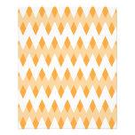Modelo de zigzag anaranjado con formas del diamant tarjetas informativas