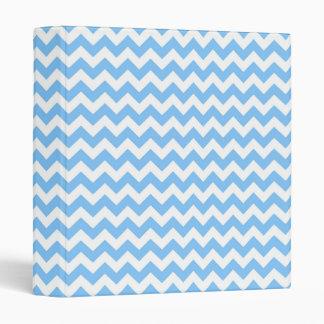 """Modelo de zigzag azul claro y blanco intrépido de carpeta 1"""""""