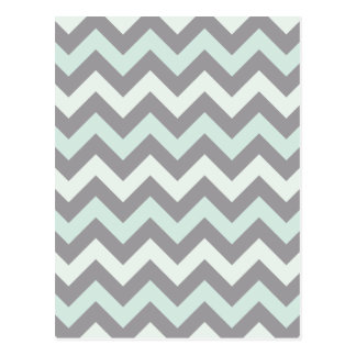 modelo de zigzag azul de la espuma del mar tarjetas postales