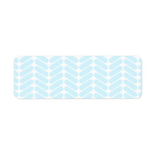 Modelo de zigzag azul en colores pastel inspirado  etiqueta de remitente