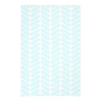Modelo de zigzag azul en colores pastel inspirado flyer a todo color
