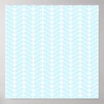 Modelo de zigzag azul en colores pastel inspirado  posters