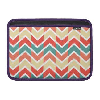 Modelo de zigzag azul rosado del extracto del funda macbook air