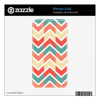 Modelo de zigzag azul rosado del extracto del skins para eliPhone 4