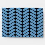 Modelo de zigzag azul y negro