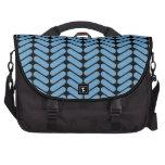 Modelo de zigzag azul y negro bolsa para ordenador