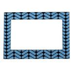 Modelo de zigzag azul y negro foto de imanes