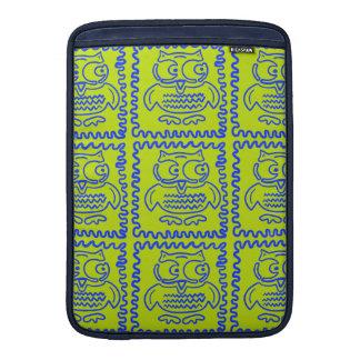 Modelo de zigzag azulverde de la cal colorida de l fundas para macbook air