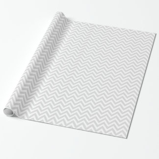 Modelo de zigzag blanco gris claro de Chevron Papel De Regalo