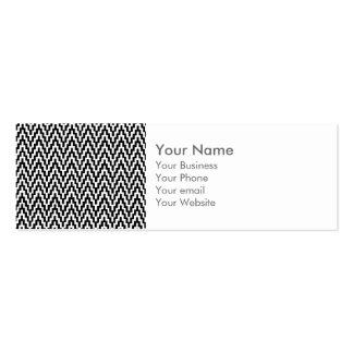 Modelo de zigzag blanco negro de Ikat Chevron del Tarjetas De Visita Mini