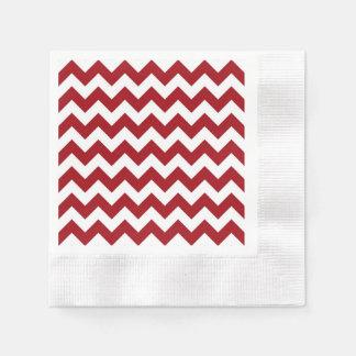 Modelo de zigzag blanco rojo de Chevron del Servilleta Desechable