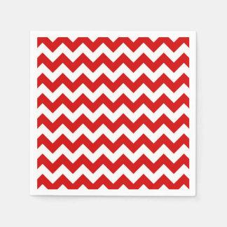 Modelo de zigzag blanco rojo de Chevron Servilleta Desechable