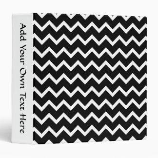 """Modelo de zigzag blanco y negro carpeta 1 1/2"""""""