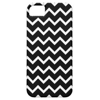 Modelo de zigzag blanco y negro iPhone 5 carcasas