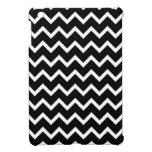 Modelo de zigzag blanco y negro iPad mini coberturas