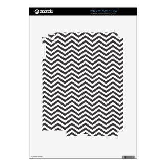 Modelo de zigzag blanco y negro iPad 2 skin