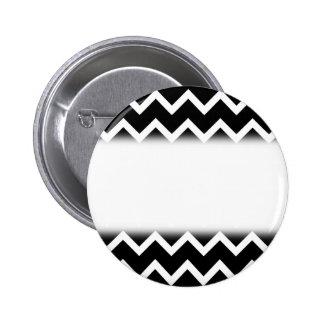 Modelo de zigzag blanco y negro pin redondo de 2 pulgadas