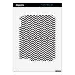 Modelo de zigzag blanco y negro calcomanía para el iPad 2