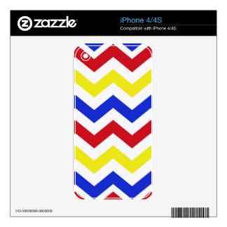 Modelo de zigzag coloreado náutico calcomanía para el iPhone 4