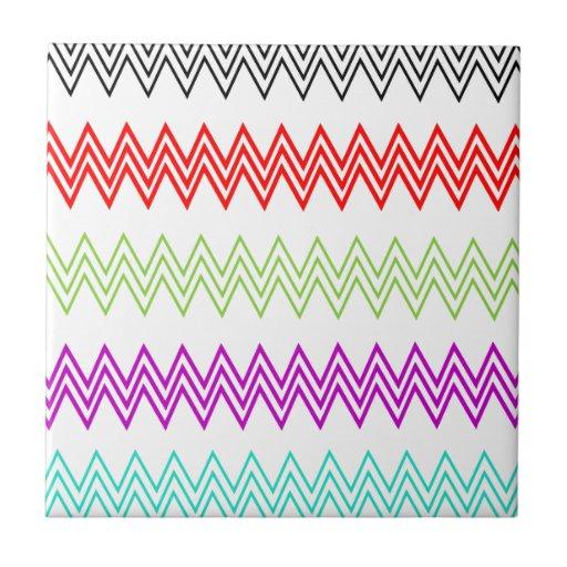 Modelo de zigzag colorido azulejos