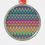 Modelo de zigzag colorido de la onda adorno