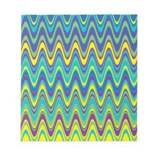 Modelo de zigzag colorido de la onda blocs