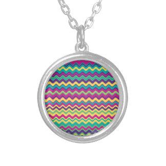 Modelo de zigzag colorido de la onda colgantes personalizados