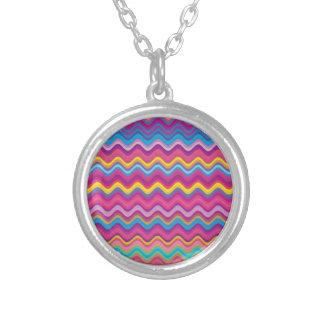 Modelo de zigzag colorido de la onda colgante