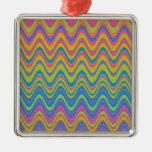 Modelo de zigzag colorido de la onda ornamentos de reyes